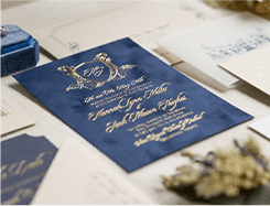 Thiệp cưới vintage V-007